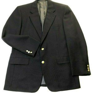 Hickey Freeman Mens Navy Wool Mohair Jacket Blazer